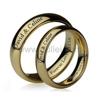 18K Gold Plated Tungsten Custom Couples Rings Set for 2 https://www.gullei.com/18k-gold-plated-tungsten-engravable-couple-ring-set.html