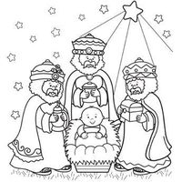 Three Wise Men Coloring Page... I could not get this topostas a full size page. however, if you go to the website, you can print it out full size