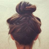Kind of interesting back braid top knot