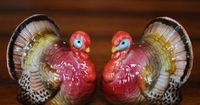 Vintage Turkey Salt and Pepper Shakers