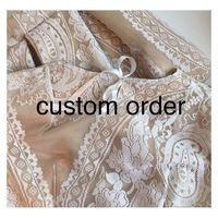 Custom order for isabel - Hand-made Beautiful Dresses Unique Design Clothing