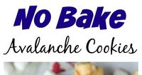 "Easy No Bake Avalanche Cookies �€"" just 4 ingredients and 5 minutes to make this cookie version of Rocky Mountain Chocolate Factory's Avalanche Bark!"