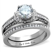 A Perfect Antique 1.6CT Solitaire Round Cut Russian Lab Diamond Ring Bridal Set Infinity Band $132.00