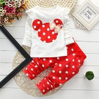 Baby Girls Winter Clothing Sets Cotton Cartoon Mouse Long Sleeve Bebes Suit Newborn Kids Baby Girl Clothes $15.79