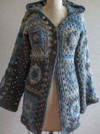 Granny Hoodie - free pattern - would go fab with the yoga pants and tank top I seem to be living in these days. :)