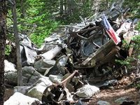 B-17 Crash Site in Roosevelt National Forest. A hike/backpack to this site is on my list for this summer. Even if PS and I have to go it alone, I'll be there this summer.
