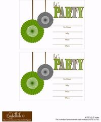 Download a set of free printables which would work great for a birthday, boy baby shower, or mustache bash! This collection includes: invitations, party circles
