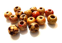 Pack of 50 Assorted Pattern Brown Wood Beads. 10mm Wooden Spacers for Jewellery Making & Crafts. £3.39