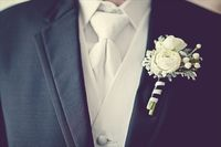 I love the bridal bouquet, but grooms stylish boutonnieres are equally as intriguing to me. I am so excited to plan what kind my fiance will wear!