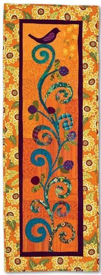 """FREE pattern: """"Bird on a Branch"""" table runner (from C Publishing)"""