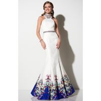 Ivory Multi Studio 17 12636 - Fitted Long Open Back Dress - Customize Your Prom Dress