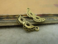Pack of 20 Mask Face Charms. Bronze or Silver Pendants. 19mm x 8mm £4.89