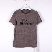 Simple Slimming Short Sleeves Alphabet T-shirt - Discount Fashion in beenono
