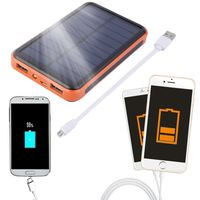 2017 New Arrival 12000mAh Waterproof Portable Solar Power Bank USB Solar Charger for Smart Mobile Phone $28.48