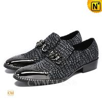 CWMALLS® Mens Embossed Leather Dress Shoes CW708103[Patented Product, Global Free Shipping]