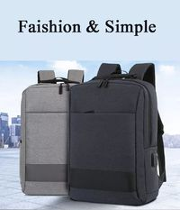 Laptop Bag Multifunctional Waterproof Bucket Bag Pure Color Large Capacity Easy Travel USB Charging Bag
