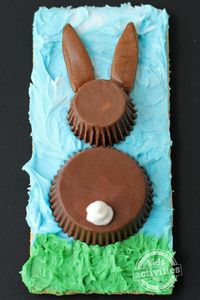Using chocolate candies like Reese's Cups and Tootsie Rolls to make cute edible crafts for Easter is so much fun
