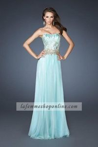 Cheap A-Line Beading Bodice Strapless SeaFoam Homecoming Dresses