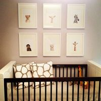 A safari themed nursery for a stylish baby boy. Wanted to design something playful yet calming for both baby and mommy.
