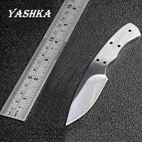 Blank blade stainless steel DIY Tools hunting knife fixed blade outdoor camping knives $26.90