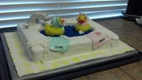 Such a cute baby cake. Love the idea and different..