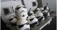 """What if the Easter Bunny used """"the force"""" to make Easter happen? How cool would it be to find eggs left by the bunny that were inspired by Yoda, Darth Vader"""