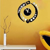 Rotation Clock Wall Sticker Home Decoration Design DIY Wall Stickers Home Decoration Removable Vinyl Wall stickers Art Decals $8.18