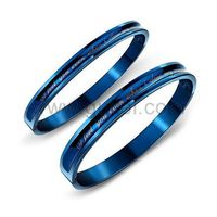 Gullei.com Engravable Simple Cute Teens Couples Bracelets Set for 2