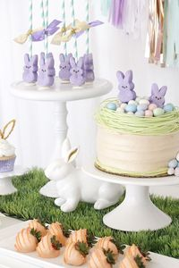 """Sniffing around for an Easter party that will fill you with HOPPINESS? Kara's Party Ideas presents a """"Bunny Bash"""" Easter Party for Kids!"""