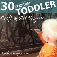 Toddler crafts and art ideas can be fun to do when you have the right expectations. Try these 30 ideas for lots of toddler fun and craftiness!