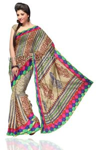 Gorgeous casual ash grey chanderi sico saree