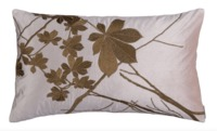 Leaf Blush Velvet with Gold Lumbar Pillow by Lili Alessandra $300.00