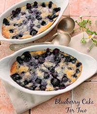 A Delicious Blueberry Cake for Two For Valentines Day You're going to love this delicious blueberry dessert that can be made in minutes. Top with a scoop of ice cream and you have a wonderful Valentines Day treat ( Recipe Can be Doubled or Tripled...