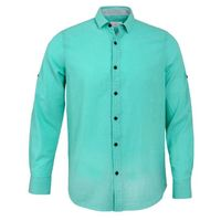 Create a stylish look with this Oxford Men green plain casual shirt. Woven in Egyptian cotton. this casual shirt has a fine finish.  �€� 100% Cotton  �€� Classic collar  �€� Full Sleeve  �€� Oxford Men  �€� Mach...