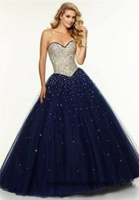 Cheap Beaded Sequin Strapless Ball Gown Dresses 2015