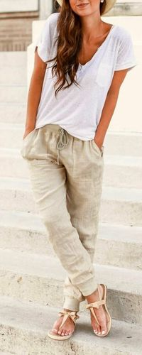 Comfy casual summer outfit idea