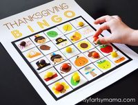 Playing Bingo at holiday parties has become a fun tradition for our family, and I had a lot of fun putting this Thanksgiving Bingo set together. With the game b
