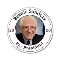 "Bernie Sanders For President 2020 Magnets one of each size 3""x3"", 4""x4"", and 6""x6"" $20.50"