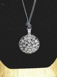 Hobo Chic Large Silver Flower Pendant Necklace. $10.00