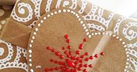Gingerbread toppers and tags from brown paper bags. Tutorial from Alisa Burke.