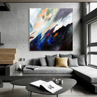 Abstract art acrylic painting on canvas art huge size black painting Wall Pictures original painting hand painted texture cuadros abstractos $104.75