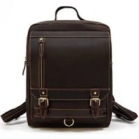 Rustic Leather Backpack