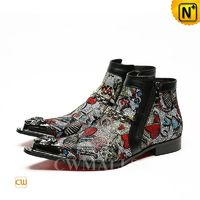 CWMALLS® Mexico City Patented Design Men Leather Dress Boots CW708007 [Limited Edition]