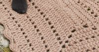 """FREE Crochet DROPS rug in """"Polaris"""". ~ This would be a cute Striped rug or at polka dots after!"""