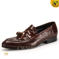 CWMALLS® Mens Tassel Leather Dress Loafers CW716211