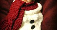 Baby Snowman Hat and Cocoon Set Newborn by AdorableBabyCreation, $34.99