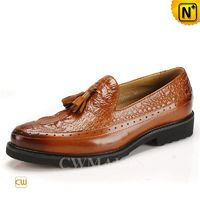 CWMALLS® Embossed Leather Tassel Loafers CW716212