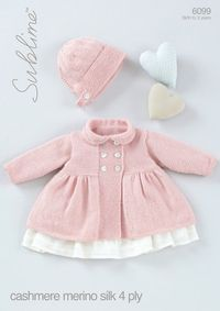 Baby Girls Peter Pan Collared Coat with Bonnet in Sublime Baby Cashmere Merino�€�