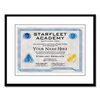 Personalized Starfleet Academy Diploma Large Frame