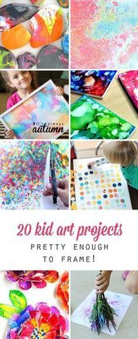 These kid art projects are easy enough for children to make, but pretty enough to frame! Great ideas for indoor kids crafts and activities.